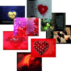 """Cover Spruchkarten-Serie 1 - 8 Motive aus dem Buch """"Ein ungeteiltes Herz"""""""