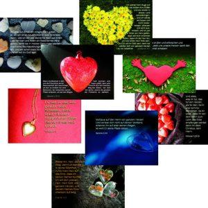 """Cover Spruchkarten-Serie 2 - 8 Motive aus dem Buch """"Ein ungeteiltes Herz"""""""